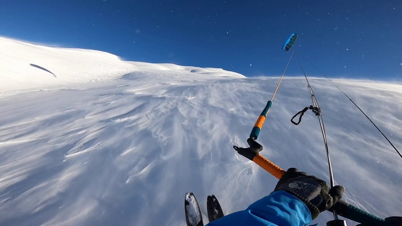 Snowkiting when snow flies
