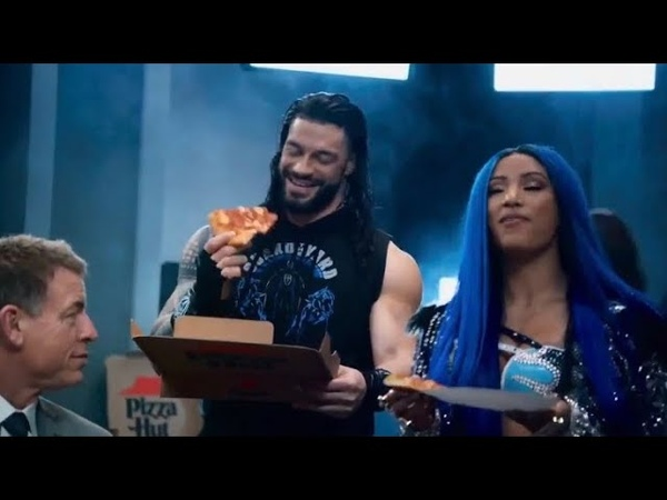 Sasha Banks Roman Reigns Pizza Hut Commercial