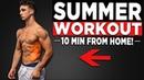10 MIN SUMMER WORKOUT (NO EQUIPMENT BODYWEIGHT WORKOUT!