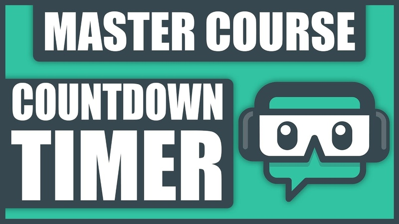 How To Add A COUNTDOWN TIMER To Streamlabs OBS - Stream Starting Soon