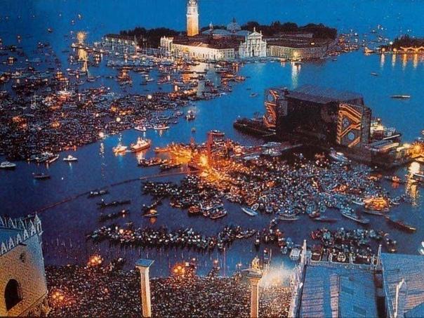 Pin Floyd в Венеции, 1989. Год.