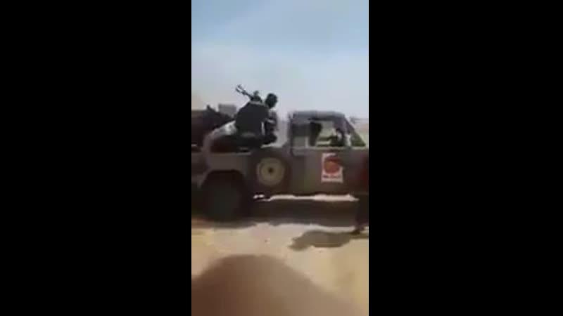 Гантрак ЗУ-2-23 сил аль-Вефак (амазигхов) работает по наёмникам Хафтара (предположительно на одном из фронтов Тархуны)
