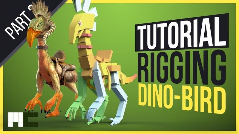 Rigging Dino-Bird (Props) - 3ds Max CAT Rigging Tutorial