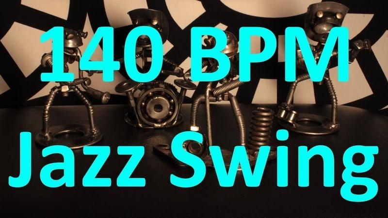 140 BPM - Jazz Swing - 4/4 Drum Track - Metronome - Drum Beat