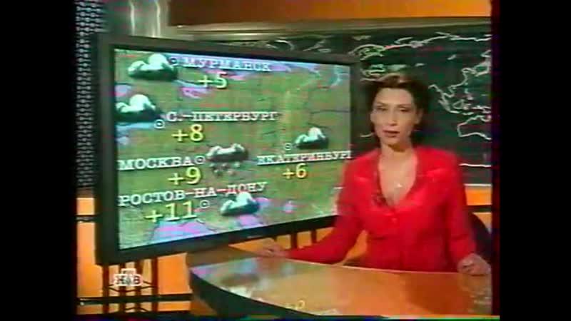 Фрагмент прогноза погоды и рекламный блок (НТВ, 14.04.2003)