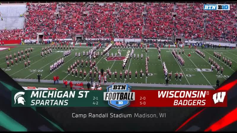 NCAAF 2019 / Week 07 / Michigan State Spartans - (8) Wisconsin Badgers / 1H / EN