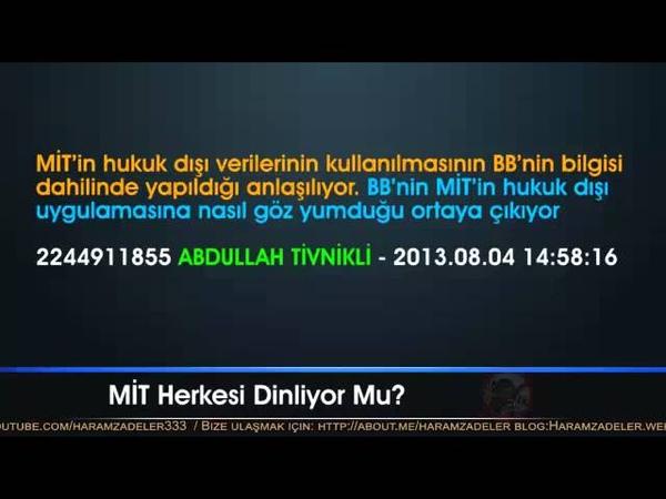 Digiturk 2 - MİT, Erdoğanın Talimatıyla İllegal Kayıtları Tivnikliye Veriyor ve Dava Açılıyor