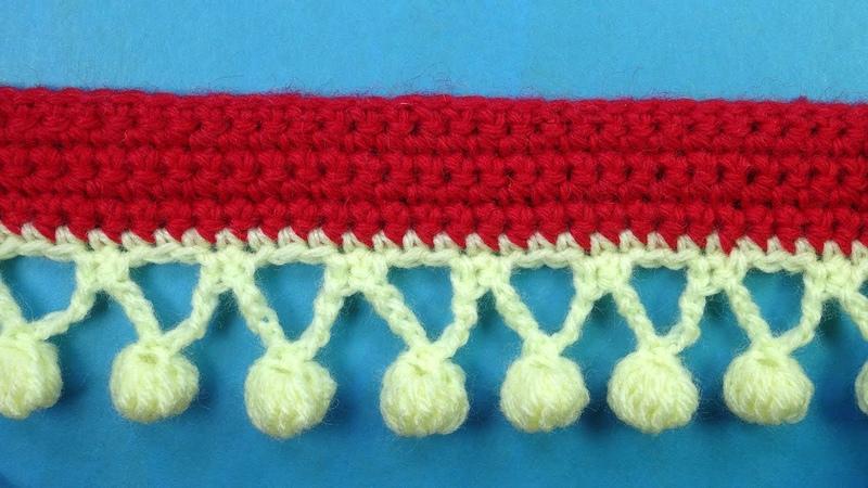 Crochet border Волшебные шарики Кайма крючком урок вязания 382
