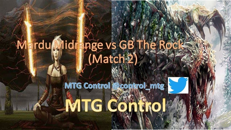 MTG Mardu Midrange vs GB The Rock - Match 2 - Modern