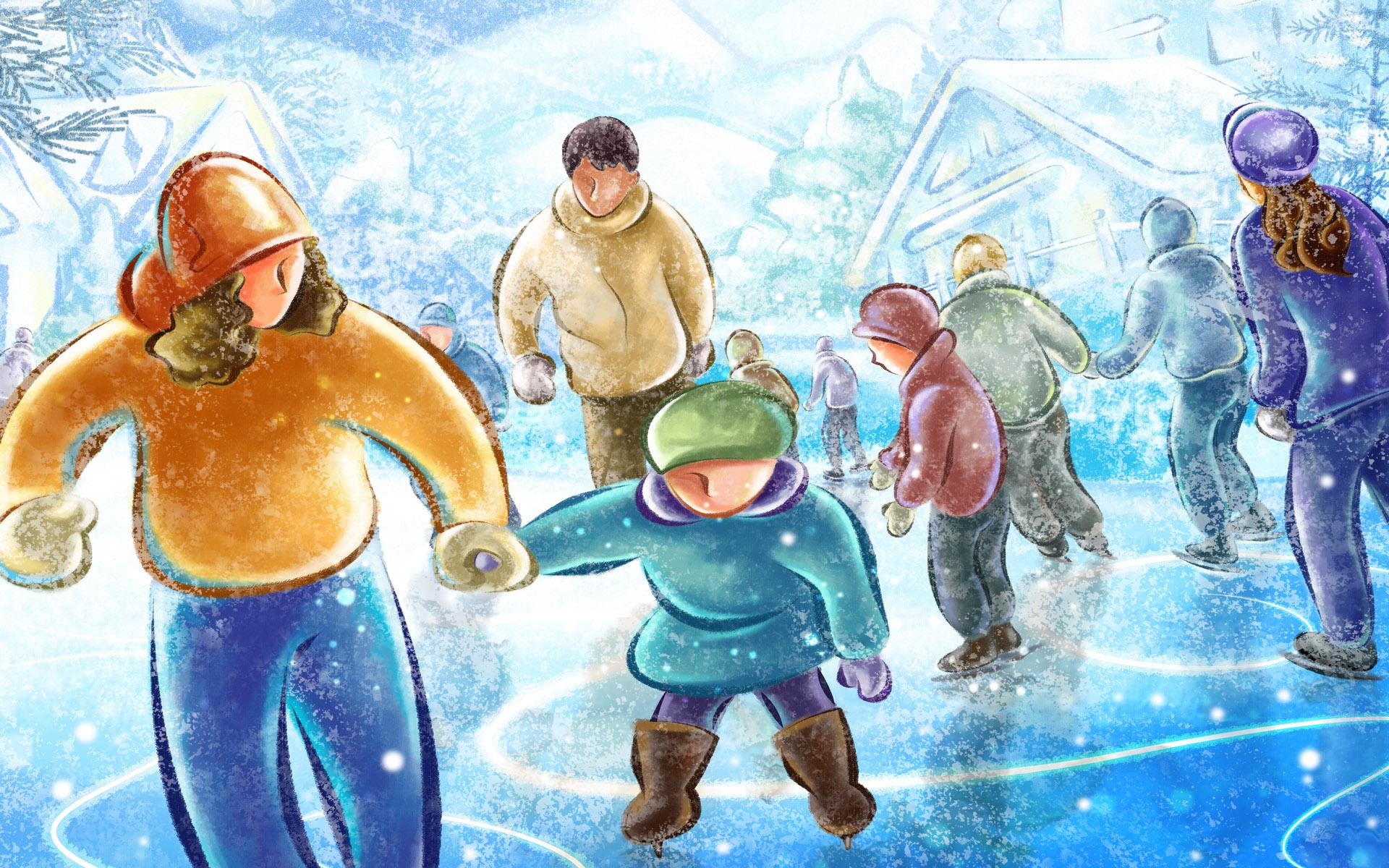 клипарт новогодние картинки на льду натурные съемки