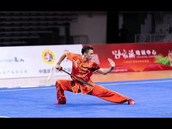 Mens Daoshu 男子刀术 第1名 江苏队 吴照华 9.84分 2019年全国武术套路锦标赛(男子赛区) wushu