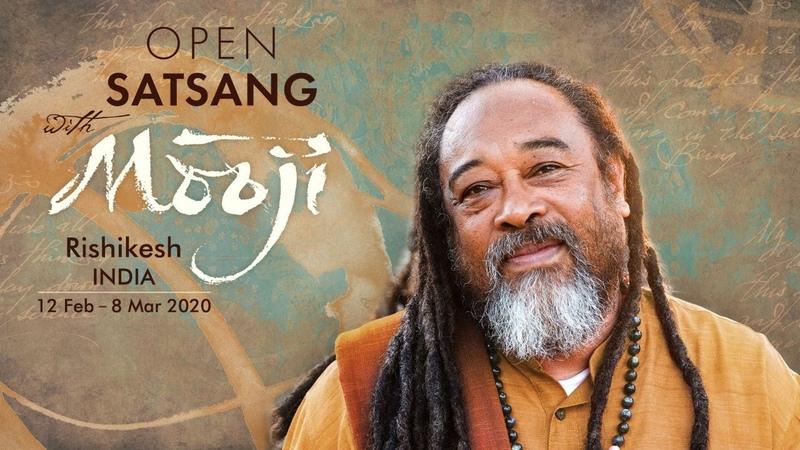 Open Satsang with Mooji in Rishikesh India