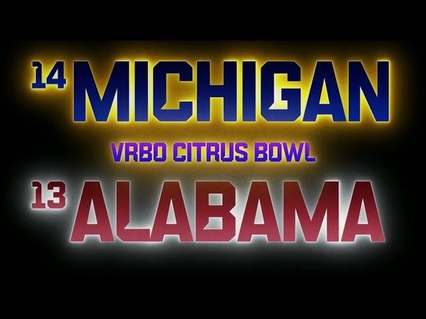 NCAAF 2019 2020 Citrus Bowl 14 Michigan Wolverines 13 Alabama Crimson Tide EN