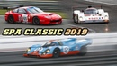 Spa Classic 2019 - 917K, XJR9, SP1, Cobra, 996 RSR, CSL, 275 GTB-C, T70, 905 more