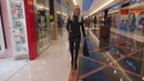 DANA LABO walking in boots overknee and leather dress