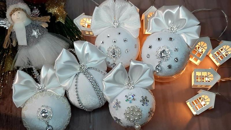 Новогодний бархатный шар