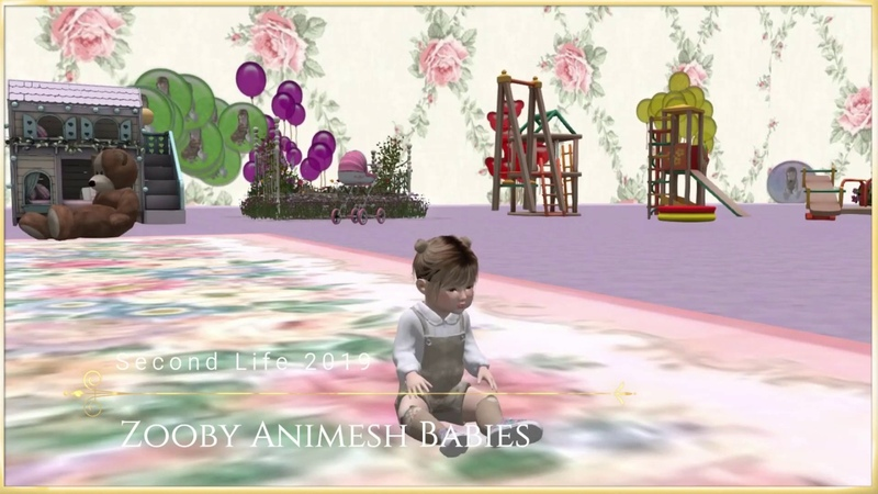 Baby room Virtual Family Second Life 2019 Zooby Animesh Babies
