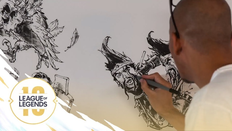 Our Game (ft. Kim Jung Gi)   Anniversary 2019 Mural Time Lapse - League of Legends