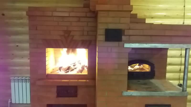 Руская печь с мангалом