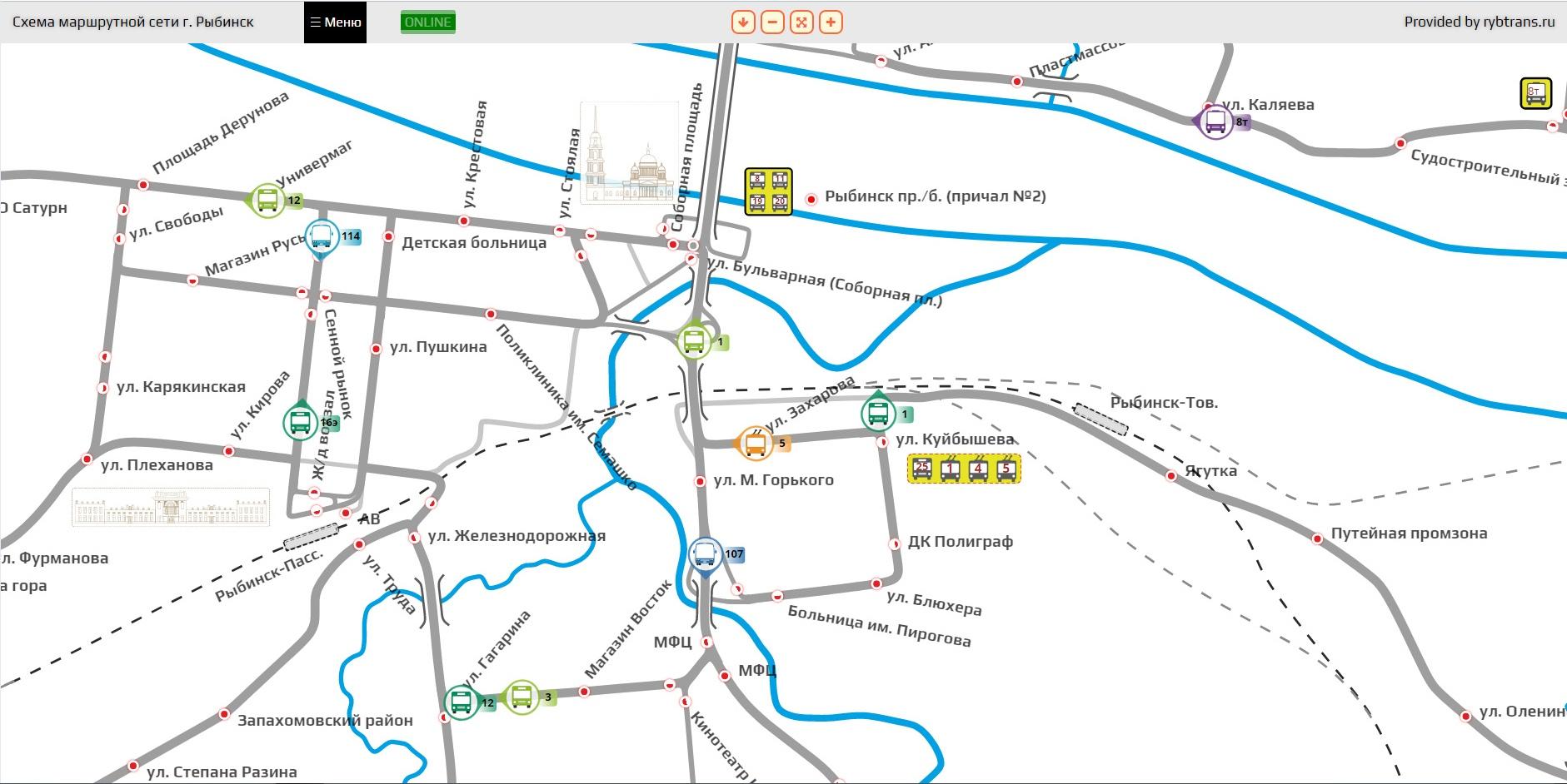 Интерактивная карта-схема