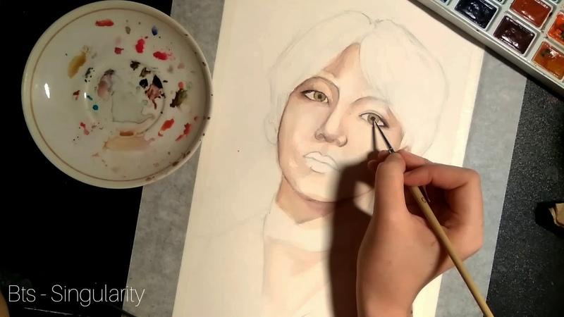 Spooky Taehyung Fanart | Vampire edit