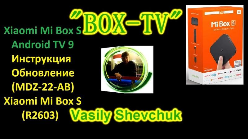 Xiaomi Mi Box S Android TV 9 Pie Инструкция Обновление (MDZ-22-AB) Xiaomi Mi Box S (R2603)