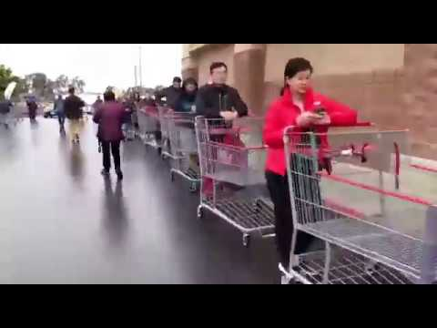 Очереди в супермаркетах США