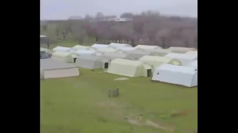 Вот так выглядит военно-полевой госпиталь под Алматы. Его разбили всего за 72 часа