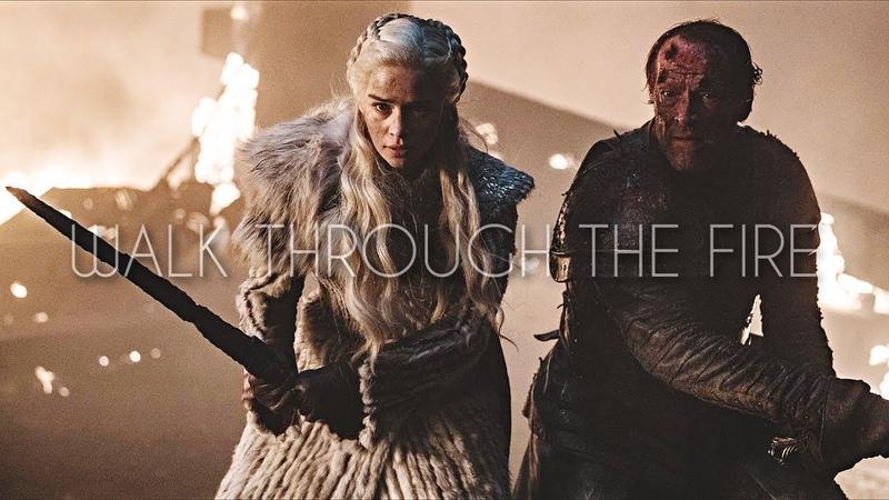 Jorah Daenerys Walk Through The Fire