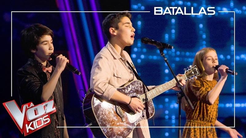 Julio Olivia y Luis cantan 'I'm not the only one' Batallas La Voz Kids Antena 3 2019