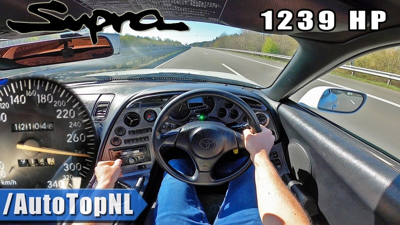 1239HP Toyota Supra HUGE TURBO on AUTOBAHN NO SPEED LIMIT by AutoTopNL