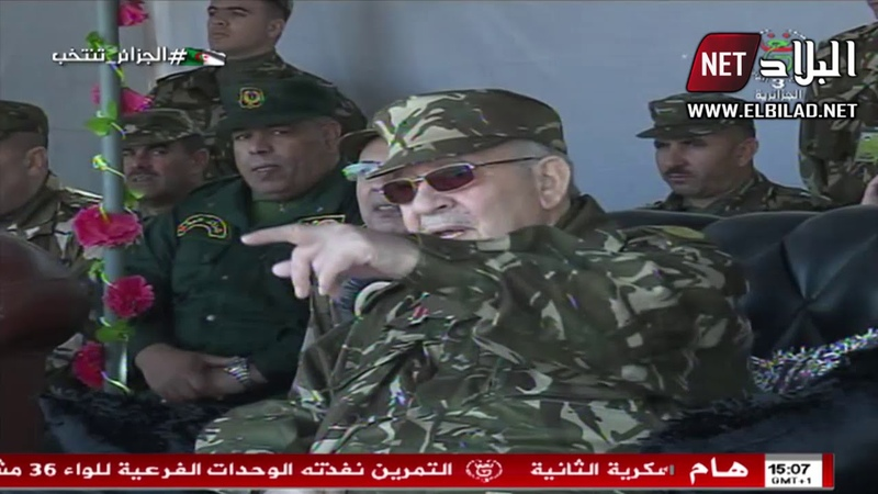 الفريق أحمد قايد صالح يشرف على مناورات بالذخيرة الحية بوهران