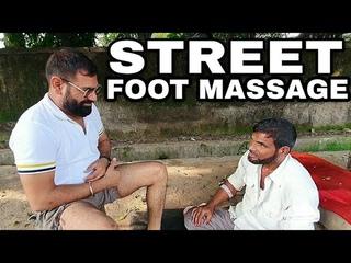 Foot Massage reflexology by JAMSHED Massuer | Pain killer baba | Indianbarber| 6 MONTHS OLD VIDEO