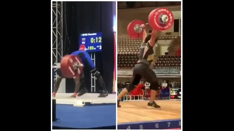 Meso Hassona 226kg CJ Jhonatan Rivas 180kg snatch