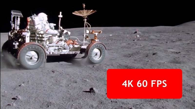 [4k, 60 fps] Apollo 16 Lunar Rover Grand Prix (1972 April 21, Moon)