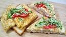 Шикарный завтрак ПРОЩЕ ПРОСТОГО! Нежные яичные блинчики с сыром и ветчиной на тосте