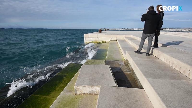 Uslijed jucerasnjeg nevremena ostecene Morske orgulje