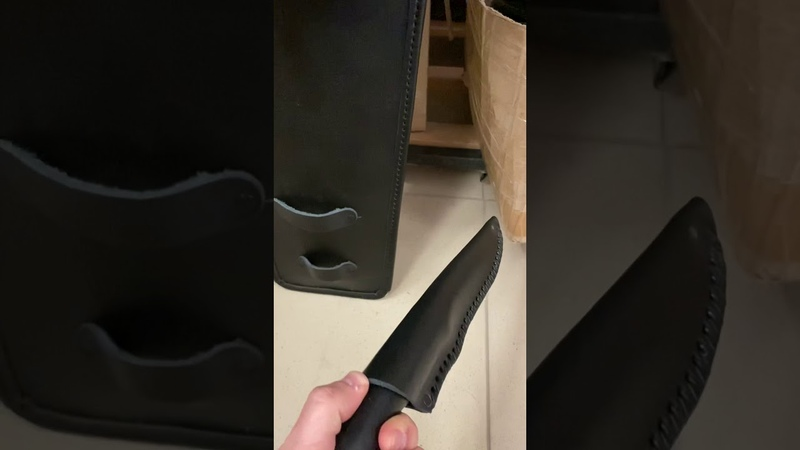 Простите за «вертикалку»! Как просили , в наборе кованый рабочий нож из х12мф