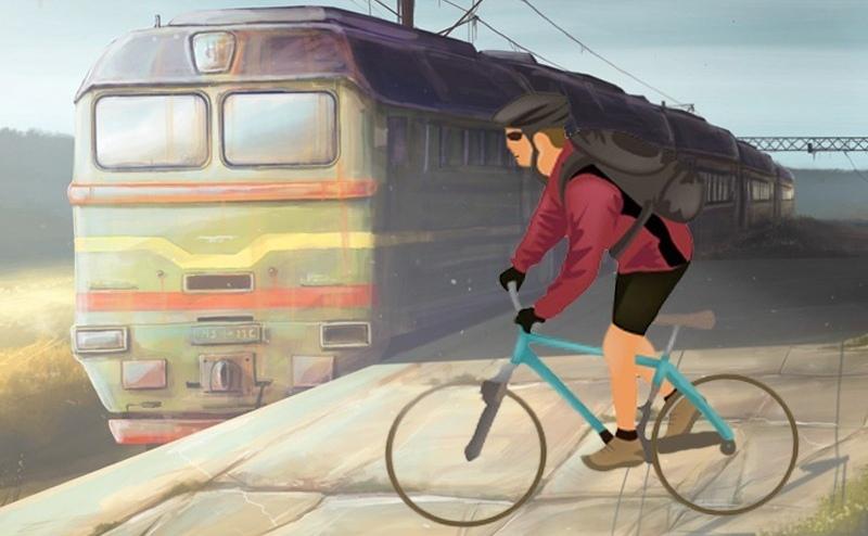 В Пинске подросток в наушниках на велосипеде не заметил поезд и столкнулся с ним