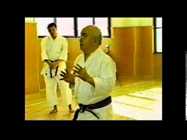 Mabuni Kanei 摩文仁 賢榮 teaching a clinic on Shito ryu kata and application