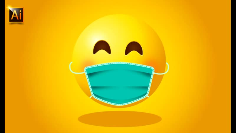 AN EMOJI WITH MEDICAL MASK ADOBE ILLUSTRATOR 2020 TUTORIAL FOR BEGINNERS