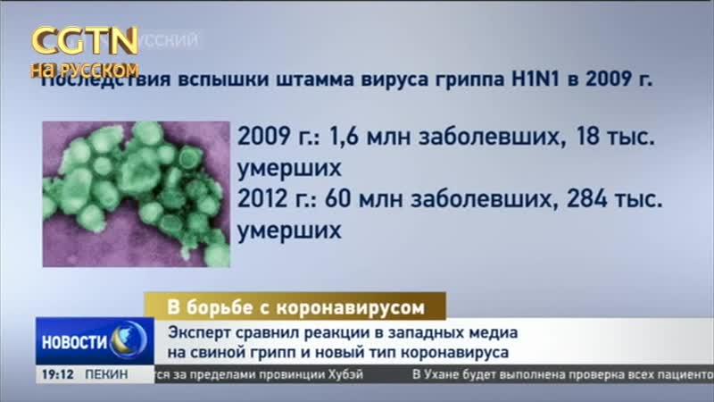 Эксперт Марио Каволо сравнил реакции в западных СМИ на свиной грипп и новый тип коронавируса