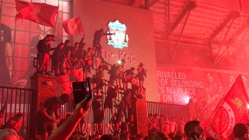 Epic Scenes At Anfield As Liverpool Fans Celebrate Historic Premier League Title Win