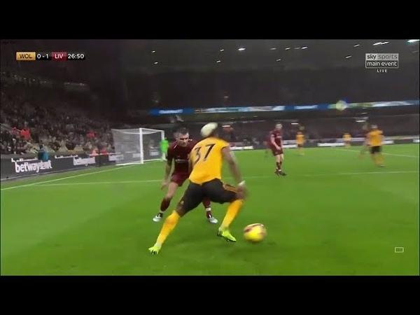 Adama Traoré vs Liverpool (Home) 21/12/2018 EPL