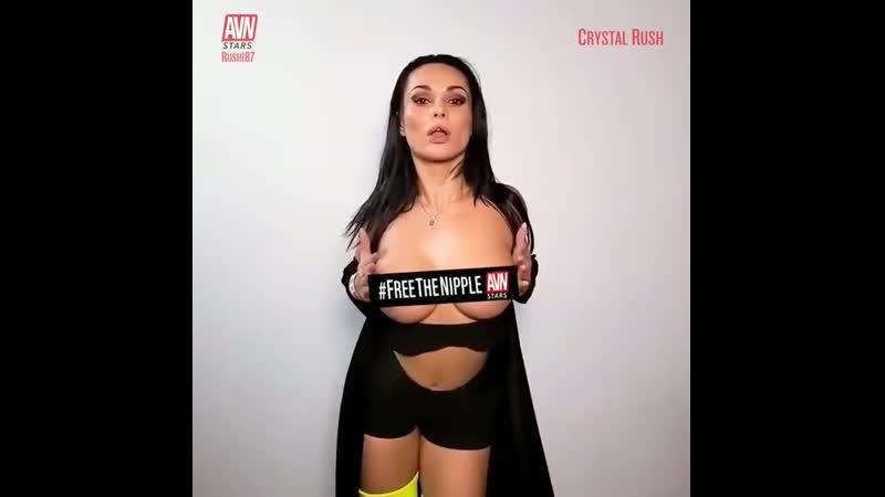 Русская порноактриса Crystal Rush снялась в рекламе