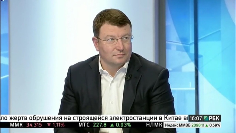 Генеральный директор компании ОПИН Артемий Крылов в эфире РБК ТВ
