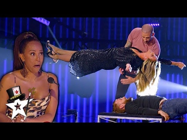 Illusionist Conjures UNBELIEVABLE Stunt with Heidi Klum on AGT Champions   Magicians Got Talent