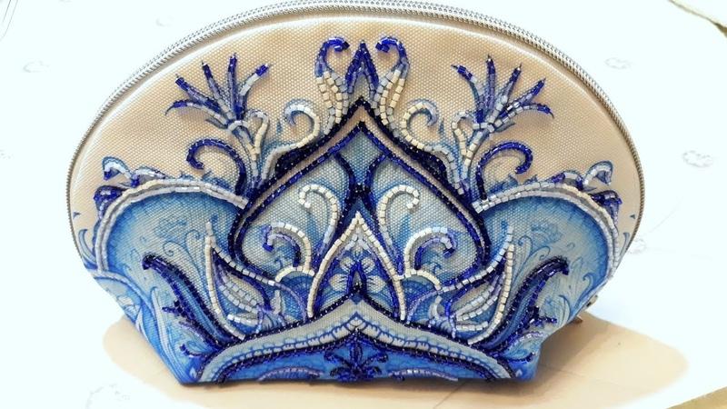 88 Косметичка от Тэла Артис Марокко Вышивка японской рубкой Matsuno