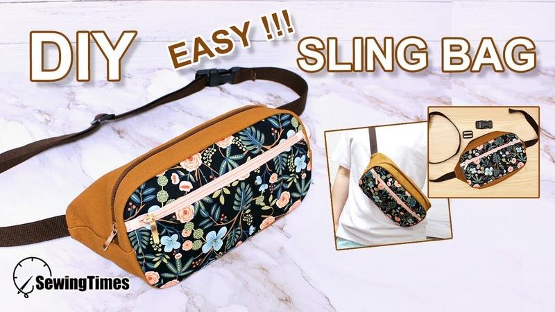 DIY EASY SLING BAG | 슬링백 가방 만들기 | fanny pack diy pattern | 메신저백 como hacer [sewingtimes]