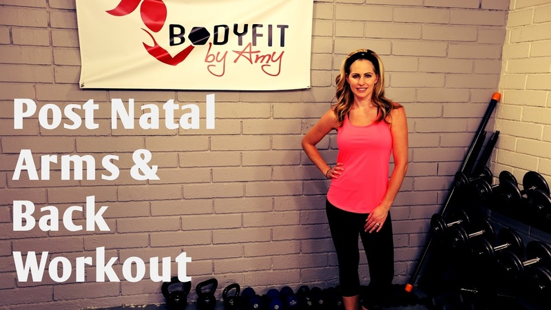 14 Minute Postnatal Arms and Back Workout-Strengthen and tone arms after pregnancy